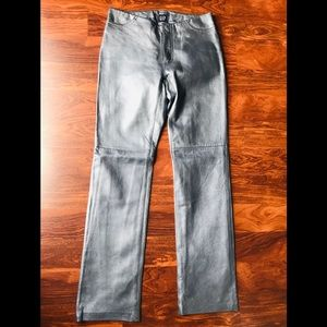 GAP Metallic Genuine Leather Pants - size 2
